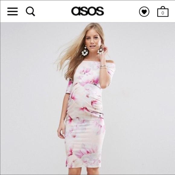 6874ef1723f ASOS Maternity Dresses   Skirts - ASOS maternity Bardot Dress with Half  Sleeve